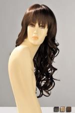 Perruque Zara - Perruque longue ondul�e aux boucles souples et l�g�res, avec une frange droite effil�e qui souligne le regard.